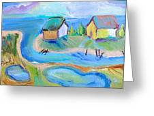 By The Sea Greeting Card by Brenda Ruark