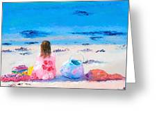 By The Seaside Greeting Card