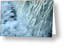 By The Weir Dam Greeting Card