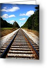 Never Ending Tracks Greeting Card