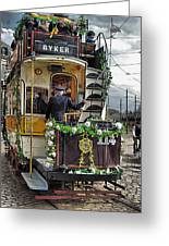 Byker Tram In Colour Greeting Card