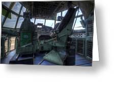 C-130 Cockpit Greeting Card
