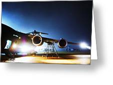 C-17 Lights Greeting Card
