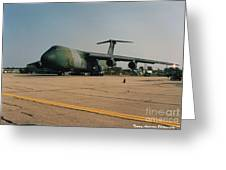 C-5 On Taxi Greeting Card