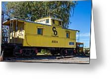 C And O Railroad Car Greeting Card