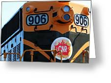 C N R Train 906 Rustic Greeting Card