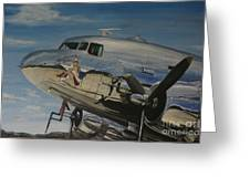 C47b Skytrain Bluebonnet Belle  Warbird 1944 Greeting Card