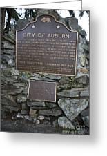 Ca-404 City Of Auburn Greeting Card