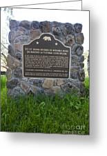 Ca-524 Site Of Juana Briones De Miranda Home On Rancho La Purisima Concepcion Greeting Card