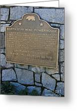Ca-843 North Star Mine Powerhouse Greeting Card