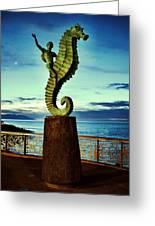Caballeo Del Mar Greeting Card
