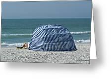 Cabana And Surf Greeting Card