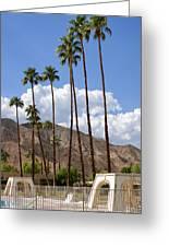 Cabanas Palm Springs Greeting Card