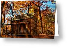 Cabin At The Cove Greeting Card