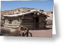 Cabin At Wolf Ranch Greeting Card