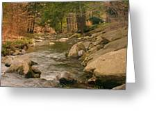 Cabin By The Creek Greeting Card