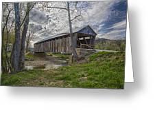 Cabin Creek Covered Bridge Greeting Card