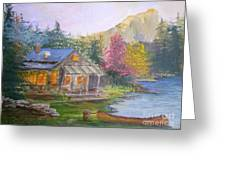 Cabin Home Greeting Card