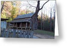 Cabin In Cade's Cove Greeting Card