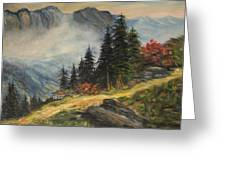 Cabin In The Alps Greeting Card