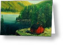 Cabin In The Catskills Greeting Card