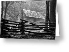 Cabin In The Fog Greeting Card