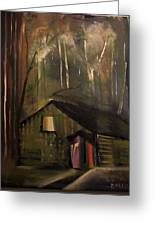 Cabin In The Forest Greeting Card