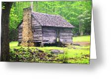 Cabin In The Smokies Greeting Card