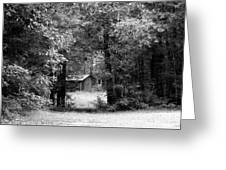 Cabin In The Woods  Greeting Card by Kim Galluzzo Wozniak