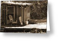 Cabin Porch Greeting Card