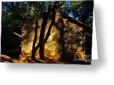 Cabin Shadows Greeting Card