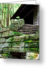 Cabin Staircase - Buttermilk Falls Greeting Card