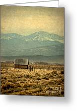 Cabin With Mountain Views Greeting Card