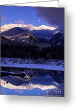 Cabinet Mountain Winter Greeting Card