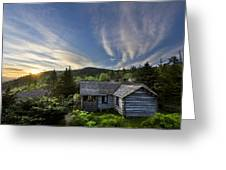 Cabins At Dawn Greeting Card