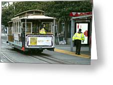 Cable Car At Fisherman's Wharf Greeting Card