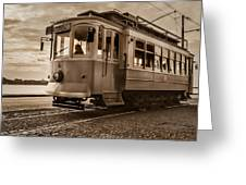 Cable Car In Porto Portugal Greeting Card