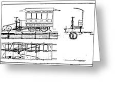 Cable Car Patent, 1873 Greeting Card