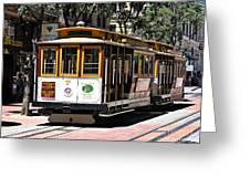 Cable Car - San Francisco Greeting Card