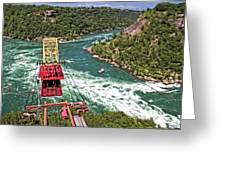 Cable Car Whitewater Greeting Card