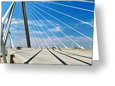 Cable-stayed Bridge, Arthur Ravenel Jr Greeting Card