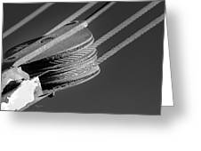 Cables And Pulleys Greeting Card