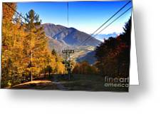 Cableway In Autumn Greeting Card