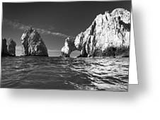 Cabo In Black And White Greeting Card