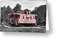 Caboose At Rest Greeting Card