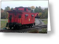 Caboose On The Tracts Greeting Card