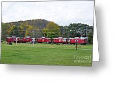 Cabooses In Upstate New York Greeting Card