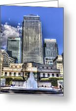 Cabot Square London Greeting Card