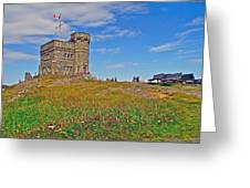 Cabot Tower In Signal Hill National Historic Site In Saint John's-nl Greeting Card