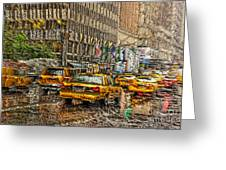 Cabs In The Canyons Greeting Card